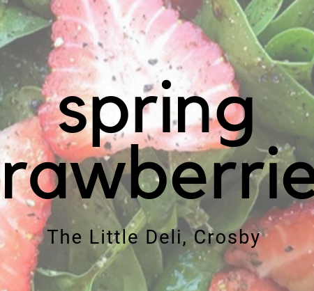 Spring Strawberries & Spinach